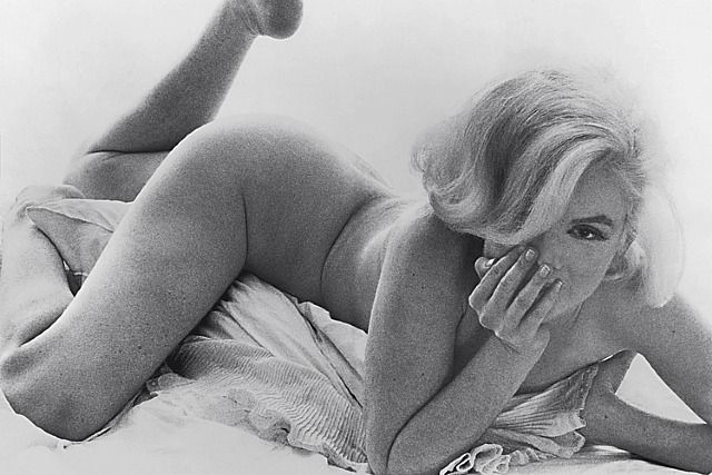 "marilyn monroe by bert stern, 1962. before ""side rolls"" were photoshopped out. gorgeous."