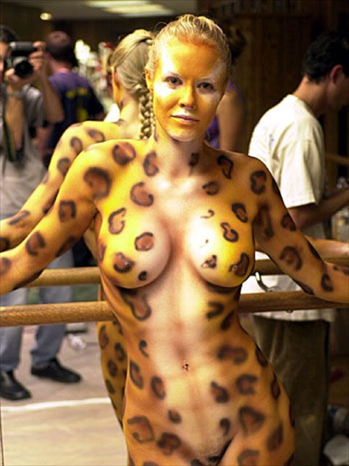 sexy body paint porn