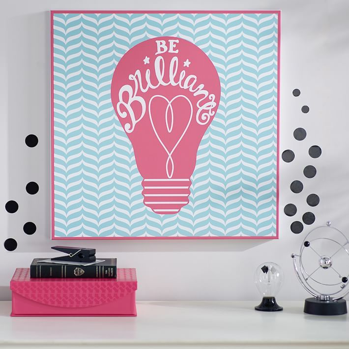 Bright Idea // This Colorful Artwork Brings Chic Imagery And A Positive  Message To Your