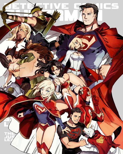 Manga Style DC Comics Superheroes by STAR Kageboushi - Superman, Justice League