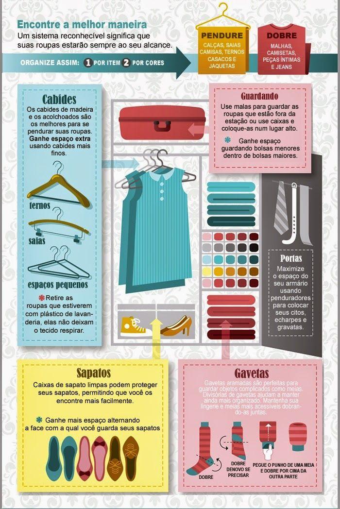 Organize sem Frescuras!: Guia de organização do closet