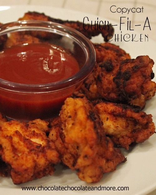 Copy Cat Chick-Fil-A Nuggets-just like you'd get from the restaurant! from @Joan | ChocolateChocolateandmore