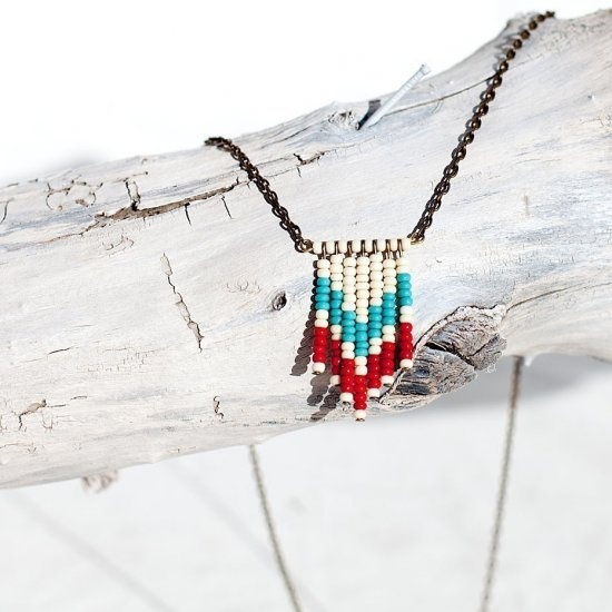Beaded pendant by Noble Town Vintage.