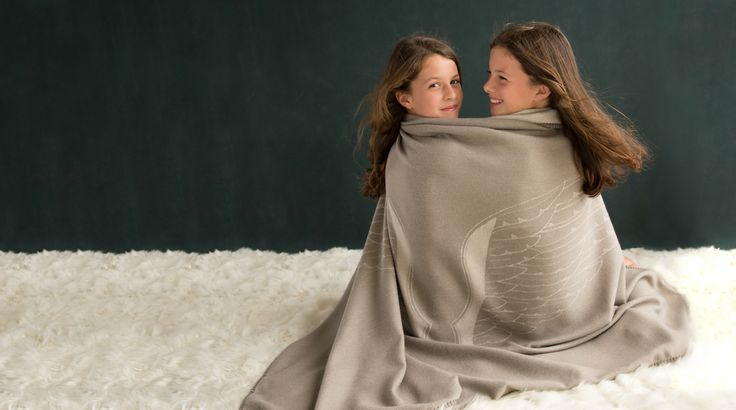 Premium baby alpaca WINGS throw.  Let our angel wings protect your loved ones!
