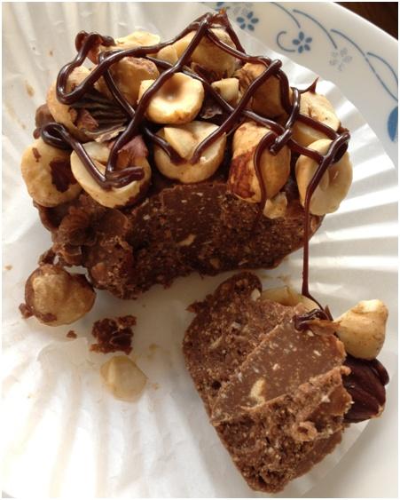 Nutella toblerone no bake slice