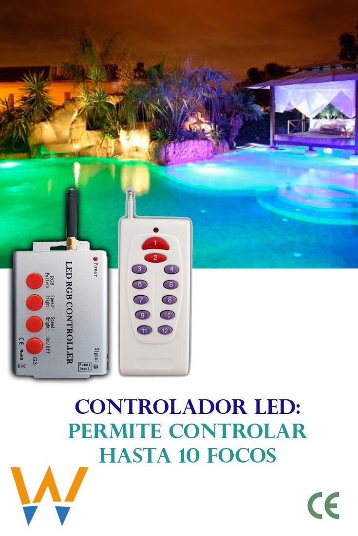 Controlador Rgb Cable De 2 Hilos Focos Sensor De Luz Transformadores