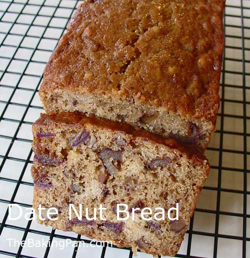 Date Nut Bread Recipe http://thebakingpan.com/recipes/quick-breads/date-nut-bread/#.UqDjbNJDuSo
