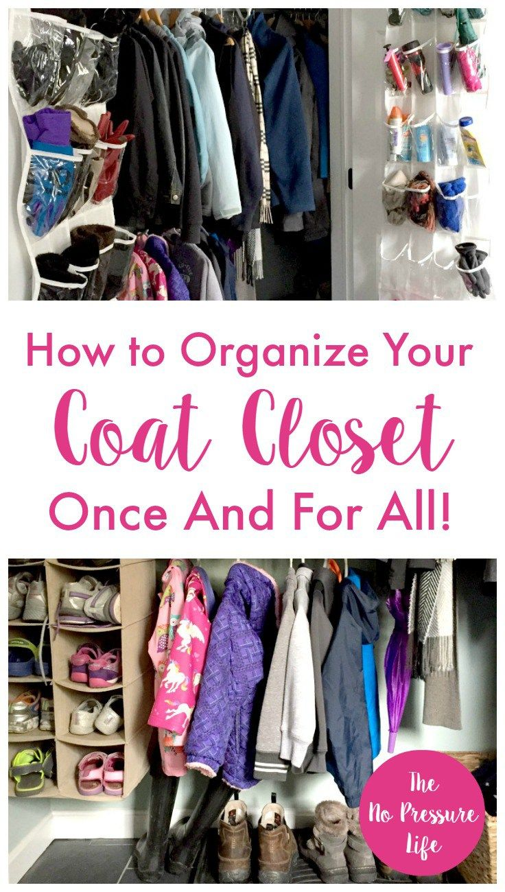 These simple and inexpensive coat closet organization ideas will show you how to keep your entryway tidy so you can find what you need fast. Awesome ways to organize winter coats, hats, mittens, and all kinds of winter gear!