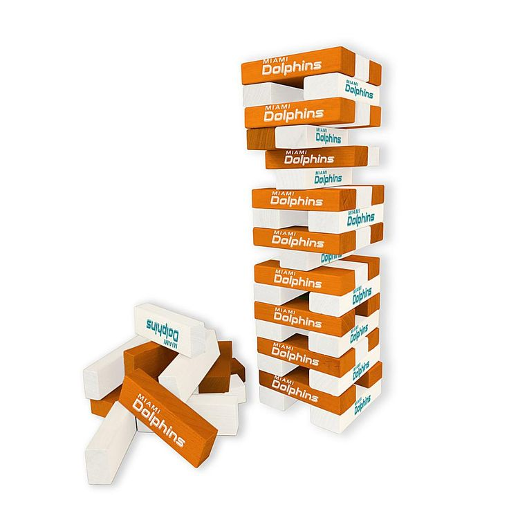 Officially Licensed NFL Table Top Stackers - Dolphins