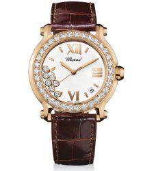 Chopard Happy Sport Round Rose Gold Women's Watch 277473-5001