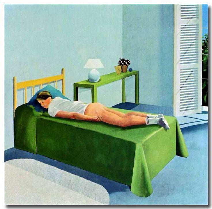 The room, Tarzana, David Hockney