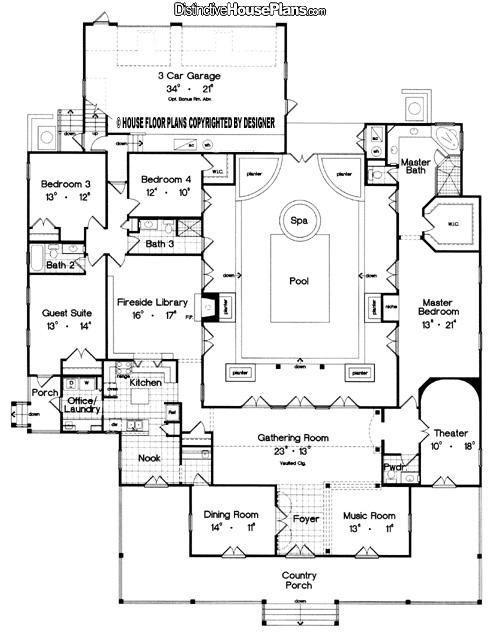 courtyard floorplan