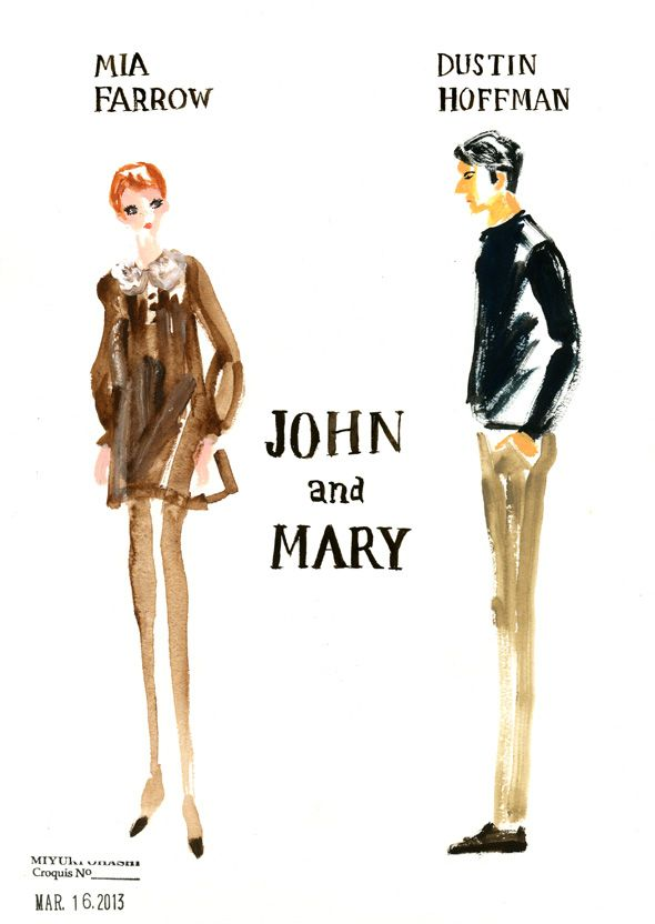 """""""John And Mary"""" directed by Peter Yates starring Dustin Hoffman and Mia Farrow"""