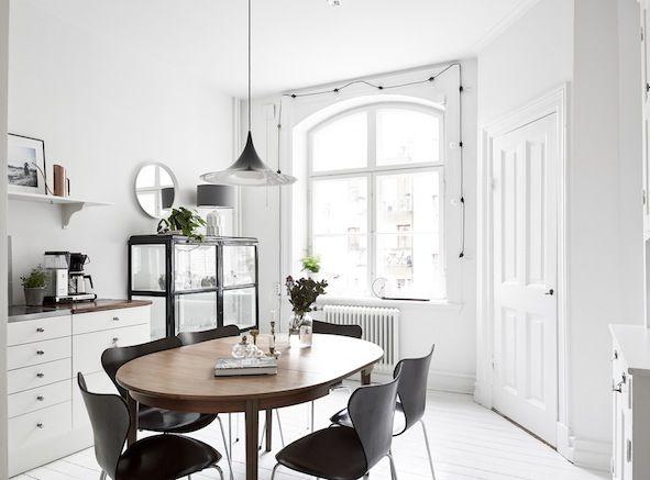 my scandinavian home: A lovely monochrome and light wood Swedish home