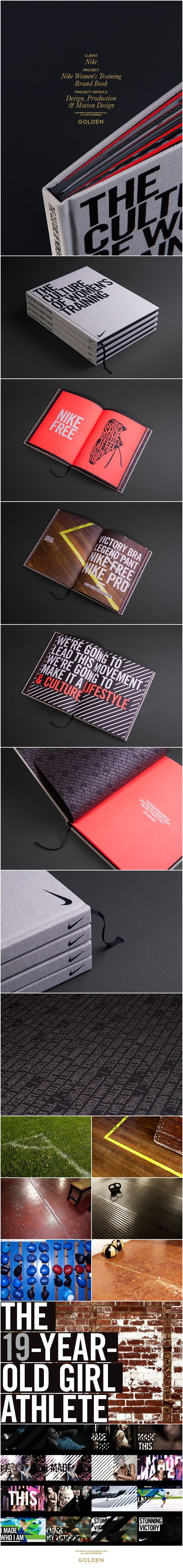 Nike Women's Training Brand Book on Editorial Design Served