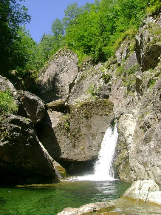 Iadolina Falls, Stana de Vale, Bihor County.