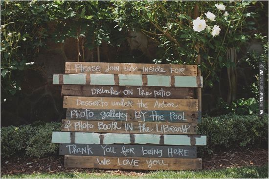 custom made wedding sign  photo by | VIA #WEDDINGPINS.NET