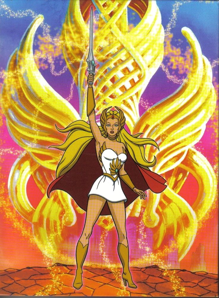 She-Ra, Princess of Power. The first character who got me hooked on kick-ass females.  Bonus points for making He-man look like a sidekick, having a flying horse, and a cool sword! (1985)