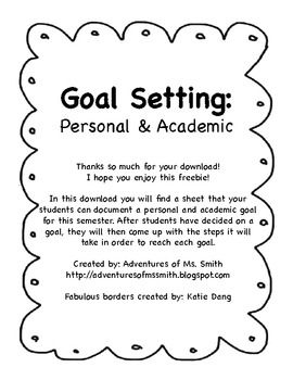 personal academic goals Personal goal setting setting goals  academic and educational advice what are examples of long-term academic goals what are examples of short-term update.