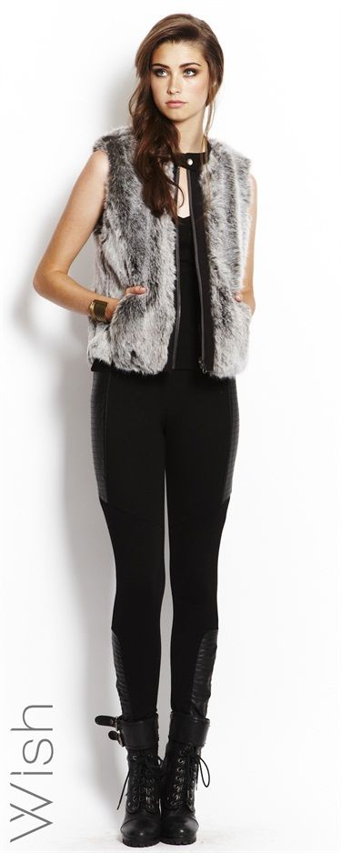 Wish Elevation Fur Vest #WishDesigns #fauxfur