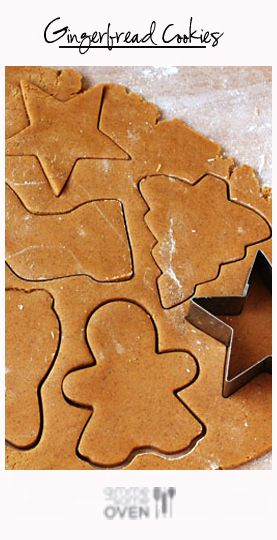 Gingerbread Cookies Recipe ~ They are just slightly chewy, spiced but not too spiced, and perfect for rolling out and cutting into whatever fun shapes you choose.