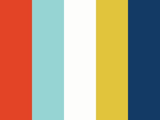 """Nautical Bits"" Color Palette by Mark Advertising - Red, White, Blue, Teal, & Mustard Yellow"