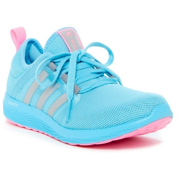 adidas ClimaCool Fresh Bounce Athletic Sneaker ($45) ❤ liked on Polyvore featuring shoes, sneakers, adidas footwear, slip-on sneakers, slip on sneakers, round cap and adidas trainers