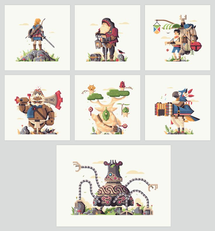These incredible Breath of the Wild prints are what a mobile Zelda game should look like - The Verge