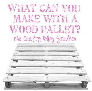 cute ideas for wood pallets!