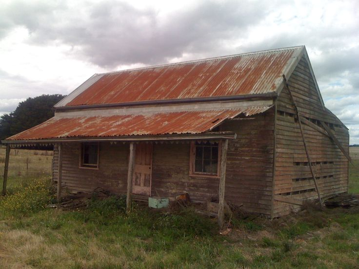 Near Marino Victoria Australia. Old cottage on the side of a road. Long abandoned. Still has metal chimney still standing albeit rusty.