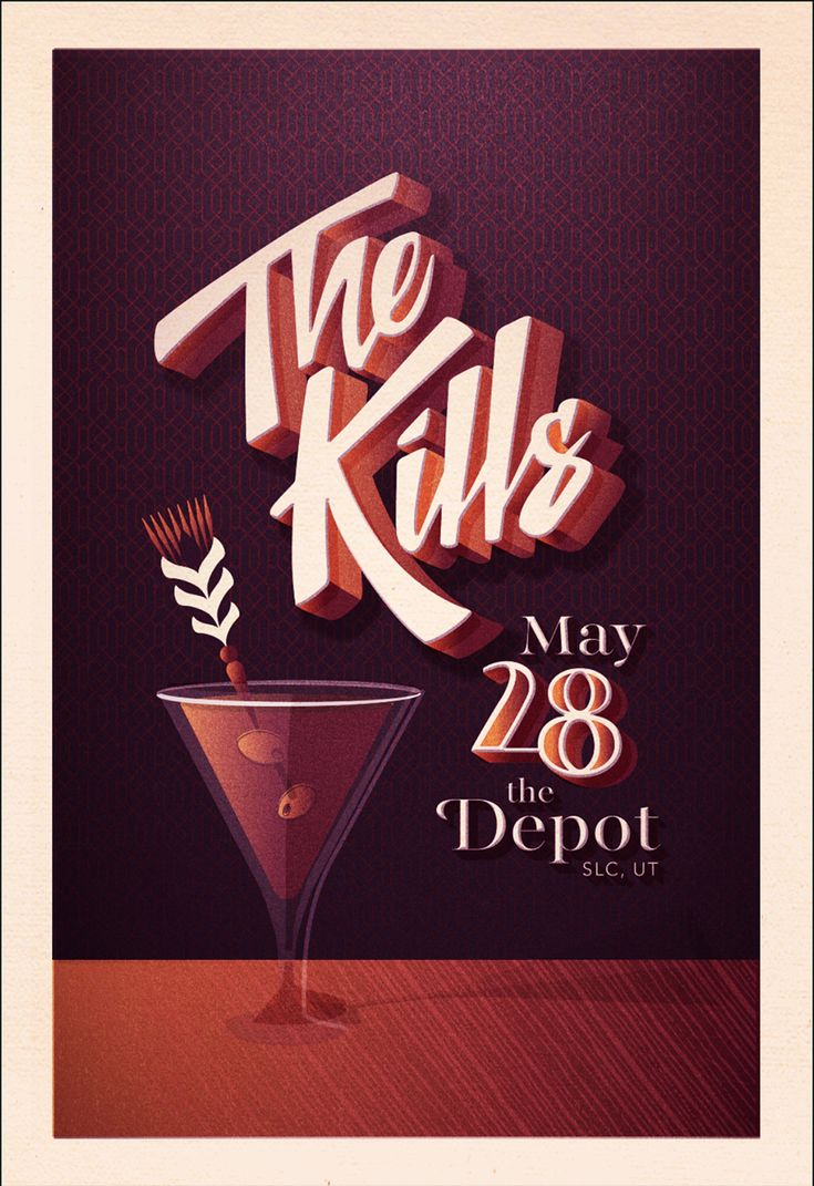 Design poster for concert - The Kills Gig Poster By Courtney Blair