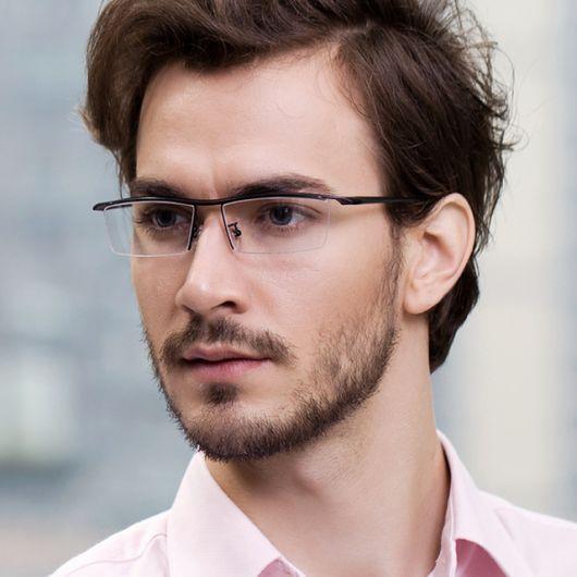 41e60d6d616f6 óculos de grau masculino triangular