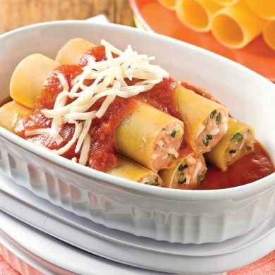 Cannellonis au poulet et parmesan - Recettes - Cuisine et nutrition - Pratico Pratique