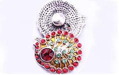 Snap jewelry noosa chunck peafowl noosa button