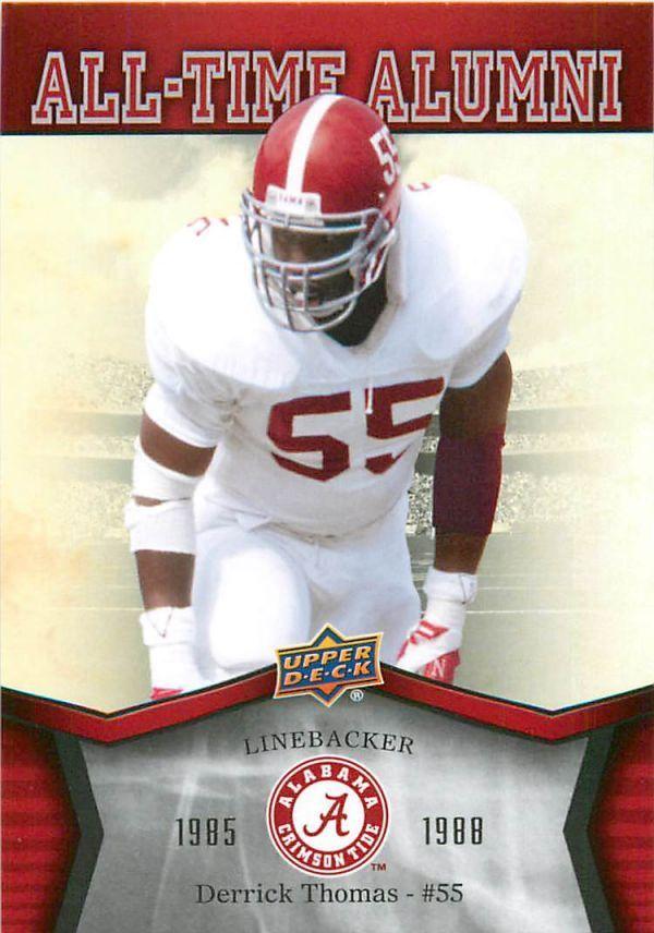2012 Upper Deck Alabama All Time Alumni #ATADT Derrick Thomas #Alabama #RollTide #BuiltByBama #Bama #BamaNation #CrimsonTide #RTR #Tide #RammerJammer