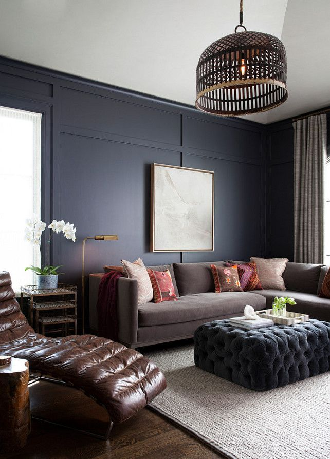 20 Trendy Living Rooms You Can Recreate At Home Dark Paint ColorsNavy