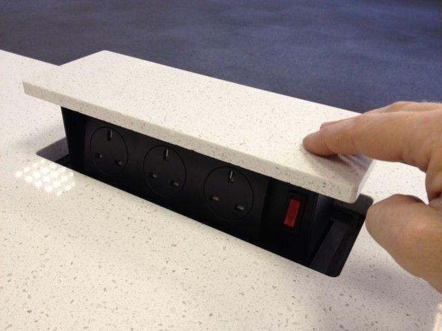 S-Box Power Box - Worktop Mounted - Storage For Kitchen - Product | Epfoluos Pte Ltd