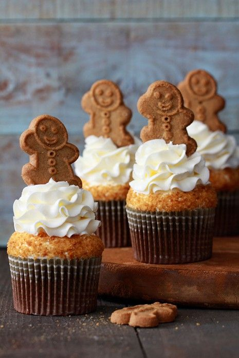 Gingerbread Latte Cupcakes - http://www.pinfoody.com/gingerbread-latte-cupcakes-2/