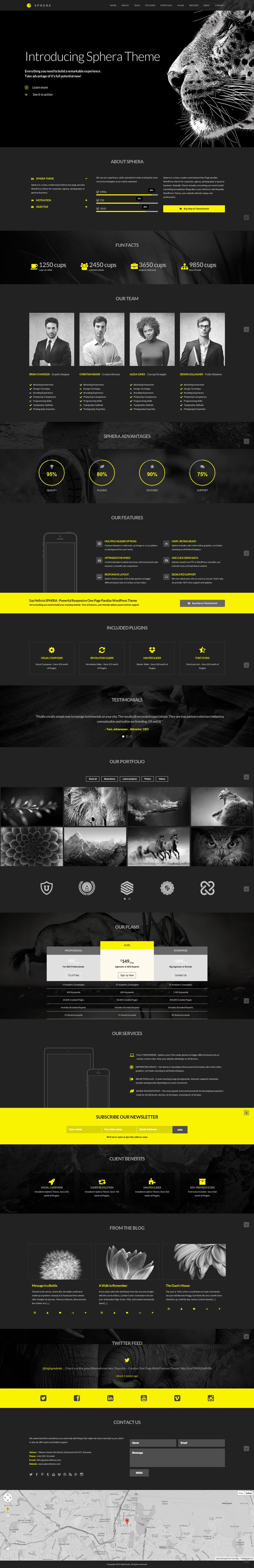 Sphera – One Page Parallax WordPress Theme