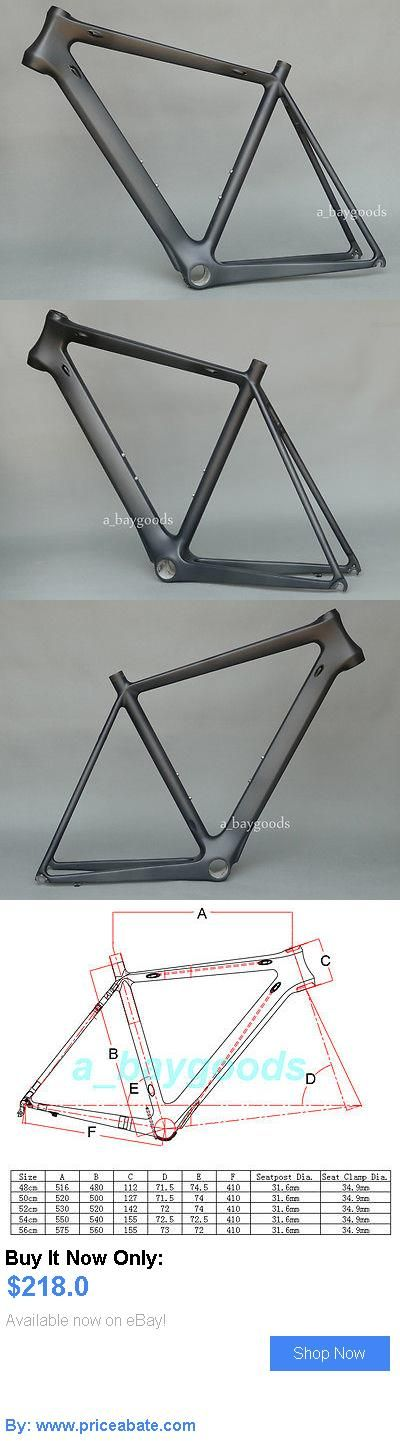 bicycle parts: Brand New Full Carbon Matt Cycling Road Bike Frame 56Cm Bicycle Frame 700C BUY IT NOW ONLY: $218.0 #priceabatebicycleparts OR #priceabate