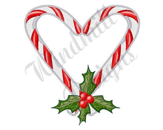 Candy Cane Heart Machine Embroidery Design Embroidery Etsy Heart Machine Embroidery Machine Embroidery Designs Machine Embroidery