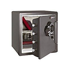 SentrySafe Fire and Water Safe, Extra Large Combination Safe with Dual Key Lock, 1.23 Cubic Feet, SFW123DSB #homesecurityguns