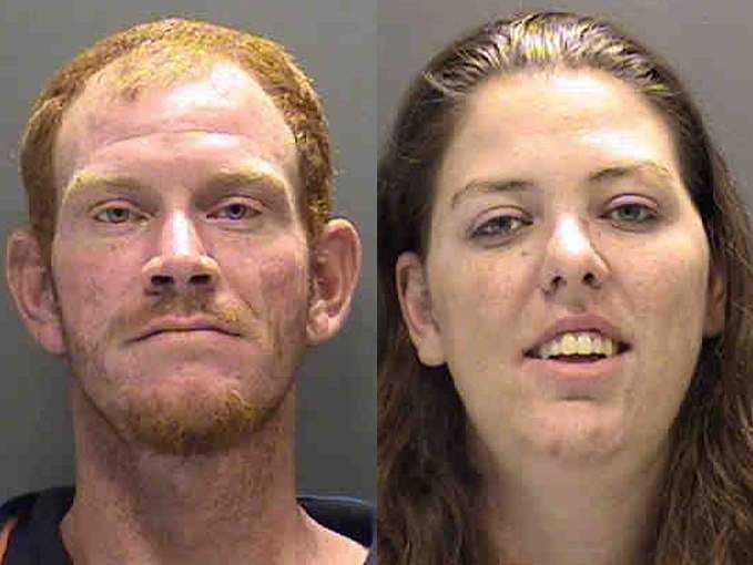 VENICE -- Couple accused of making meth... outside public library. (June 2014)