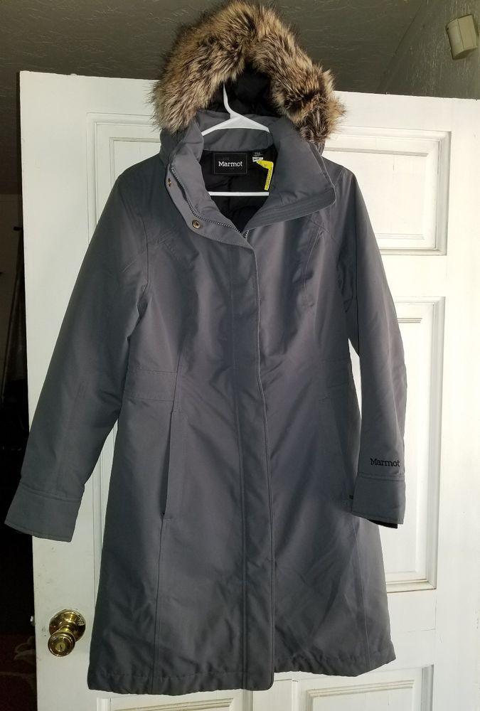 3d663b7c9 Marmot Chelsea Down Coat - Women's Gray Steel Onyx Size Medium EUC ...