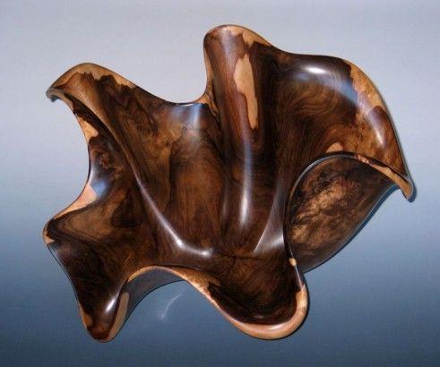 Hawaii Craftsmen - Member Frank McClure / pin - dog - beautiful example of wood turning