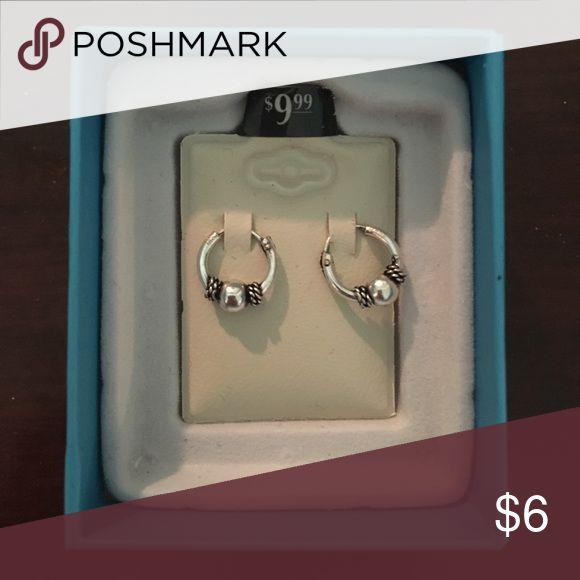 NEW Piercing Pagoda Hoop Earrings Piercing Pagoda Small Silver Hoop Earrings - Never Worn Piercing Pagoda Jewelry Earrings