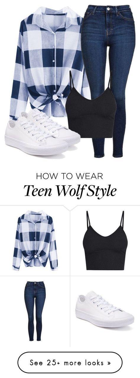 """""""Liam Inspired Outfit – Teen Wolf"""" von clawsandclothes auf Polyvore mit Topshop, BasicGrey und Converse"""