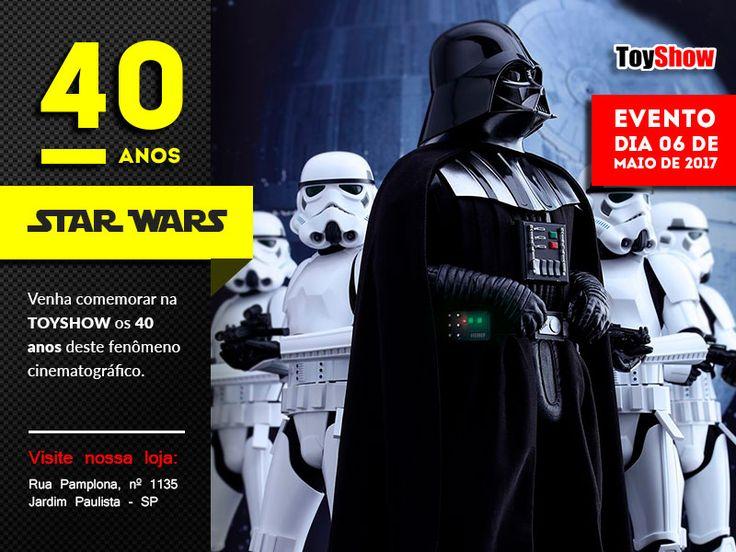 Em 1977 os cinemas (e nós nerds) ganharam Star Wars. O filme, que hoje já tem outros sete longas lançados além de livros, animação, jogos e colecionáveis, se tornou uma das maiores franquias de todos os tempos. E para comemorar, a ToyShow realiza uma festa, em São Paulo.