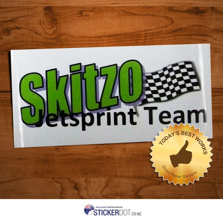 Skitzo Jetsprint Team | 100x50mm | Rectangle    #stickerdot #glosspaperstickers #glossystickers #stickers #stickerprinting #NZ #Auckland