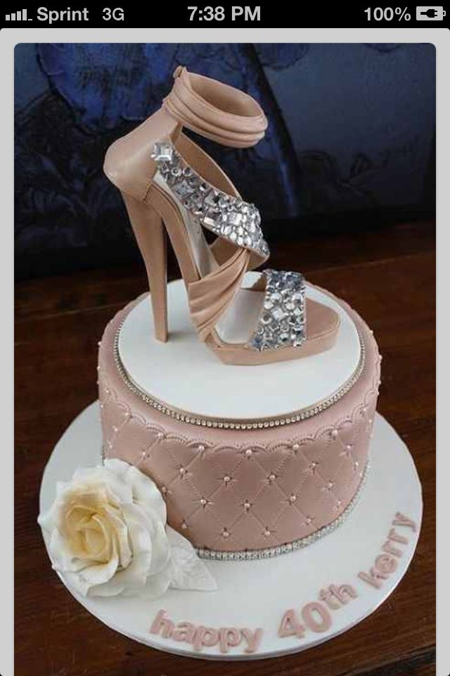 Cake with sexy shoe on top